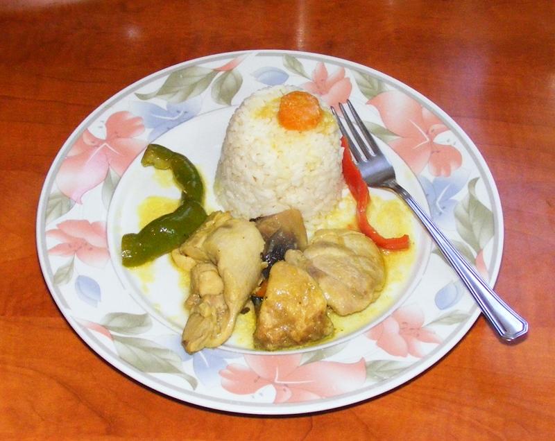 Κοτόπουλο Λεμονάτο με Μανιτάρια, Πιπεριές και Κουρκουμά