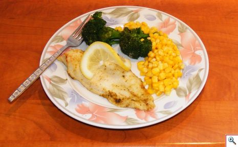 Γρήγορο ψαράκι με λαχανικά